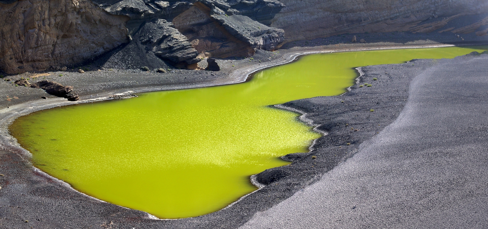 'the volcanic lake of El Golfo on Lanzarote island' - Lanzarote