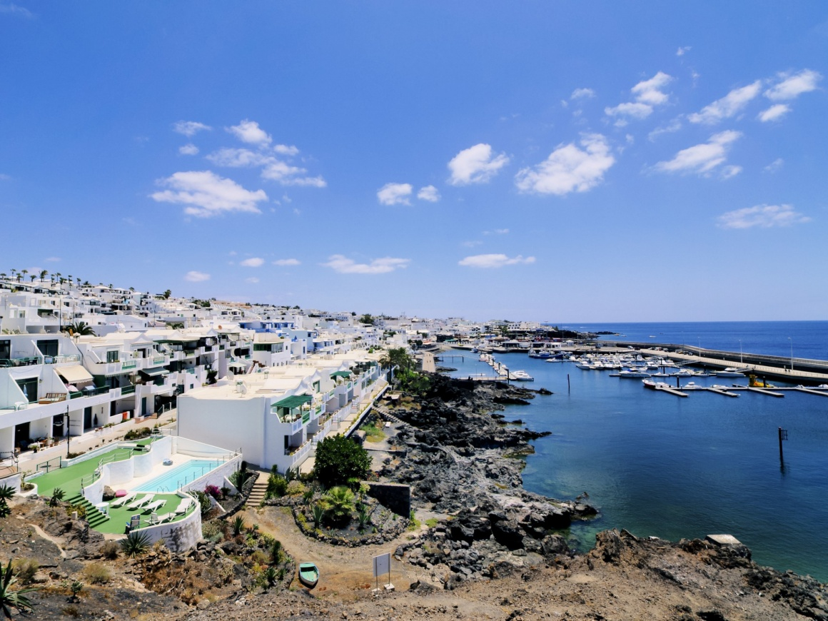 'Puerto Calero, Lanzarote, Canary Islands, Spain' - Lanzarote